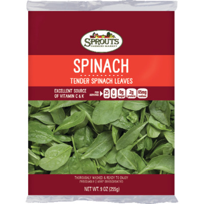 Sprouts Spinach, 9 oz image